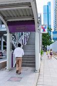 Man enter into skytrain BTS station  — Stok fotoğraf