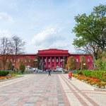 Main red building of National University of Kiev, Ukraine — Stock Photo #49244223
