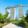 Marina Bay Sands back view from Gardens by the Bay — Stock Photo #49245209