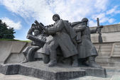 Soviet era World War II memorial in Kiev Ukraine — Stock Photo