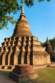 Ruins of Buddhist stupa or chedi — Stockfoto