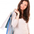 Woman holding shopping bags — Stock Photo #9686454