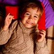 Portrait of  lying laughing little boy — Stock Photo