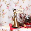 Christmas angel indoors — Stock Photo