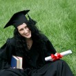 Happy bachelor with diploma — Stock Photo