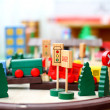 Wooden toys closeup - Stock Photo
