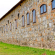 Old wall with windows — Stockfoto