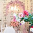 Stock Photo: Antique interior, flowers in foreground