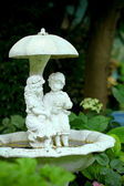 The fountain in the garden — Stock Photo
