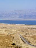 Judaean Desert and Dead Sea, Israel — Stock Photo