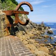 Sculpture Peine de los Vientos in San Sebastian, Spain - Stock Photo