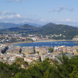 Donostia - San Sebastian, view from Mount Ulia — Stock Photo