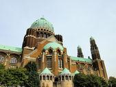Národní bazilika nejsvětějšího srdce ježíšova, brusel, belgie — Stock fotografie