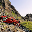 Car Wreckage, Lanzarote, Canary Islands, Spain — Stock Photo