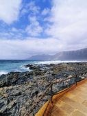 Caleta de famara, lanzarote, islas canarias, españa — Foto de Stock