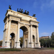 The Arch of Peace, Milan, Lombardy, Italy - Zdjcie stockowe