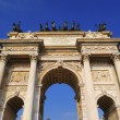 The Arch of Peace, Milan, Lombardy, Italy — Stockfoto