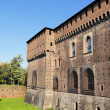 The Castello Sforzesco, Milan, Lombardy, Italy - Zdjcie stockowe