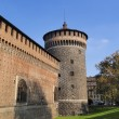 The Castello Sforzesco, Milan, Lombardy, Italy - Stock Photo