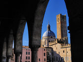Piazza Sordello, Mantua, Lombardy, Italy — Stock Photo