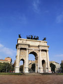 The Arch of Peace, Milan, Lombardy, Italy — Stock Photo