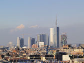 Milan, cityscape from cathedral — Stock Photo