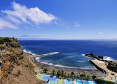 Beach of San Sebastian de la Gomera, Canary Islands, Spain — Stock Photo