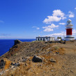 Lighthouse(Faro de San Cristobal) on Punta del Faro, La Gomera, Canary Islands — Stock Photo