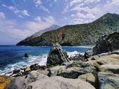 Rocky Beach of Vallehermoso, La Gomera, Canary Islands — Stock Photo