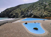 Swimming Pool on the coast of Gomera, Canary Islands, Spain — Stock Photo