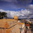 Ibiza Town Walls, Balearic Islands, Spain — Stock Photo
