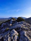 Ibiza hory, Baleárské ostrovy, Španělsko — Stock fotografie