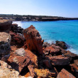 Cala Saona, Formentera, Balearic Islands, Spain - Stock Photo