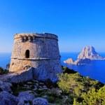 Famous tower of Savinar on Ibiza Island — Stock Photo #23408716