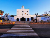 Church in Sant Josep town on Ibiza Island — Stock Photo