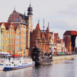 Gdansk Cityscape and Moltawa River in Poland — Stock Photo