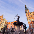 Neptune Fountain in Gdansk, Poland — Stock Photo