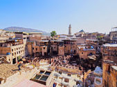 Tannery in Fes, Morocco — Stock Photo