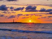 Günbatımı kazablanka, fas — Stok fotoğraf