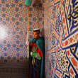 Stock Photo: Royal guard inside of Mausoleum of Mohammed V in Rabat