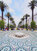 Fontána v rabatu, maroko — Stock fotografie