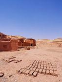 Adobes in ait benhaddou, marocco — Foto Stock