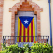 catalan flag — Stock Photo