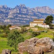 Cottage House in a way to Montserrat Mountain, Spain — Stock Photo #32681651