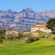 Cottage House in a way to Montserrat Mountain, Spain — Stock Photo