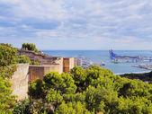 Gibralfaro castle w malaga, hiszpania — Zdjęcie stockowe