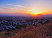 Sunset in Granada, Spain — Stock Photo