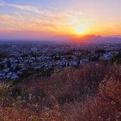 Sunset in Granada, Spain — Stock Photo