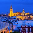 Cityscape and the Cathedral of Seville, Spain — Stock Photo