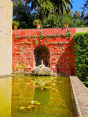 Gardens in Alcazar of Seville, Spain — Stock Photo